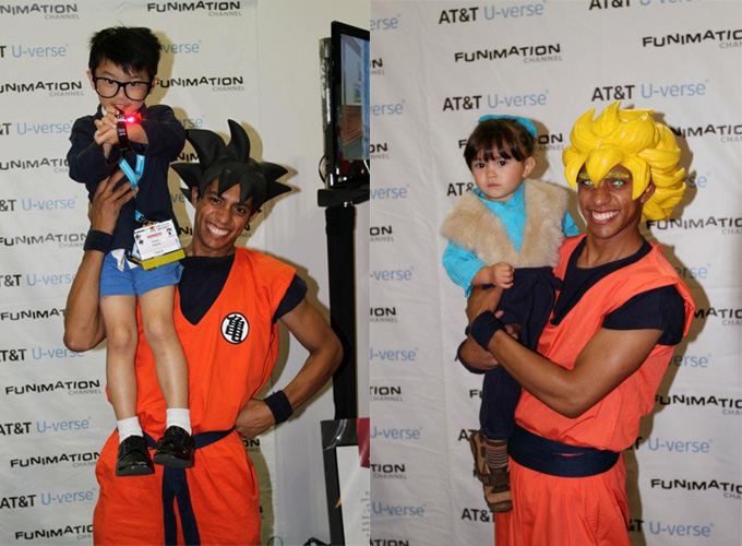 goku super saiyan cosplay children