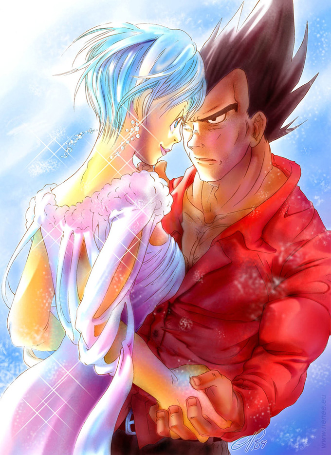 bulma vegeta engagement love dbz
