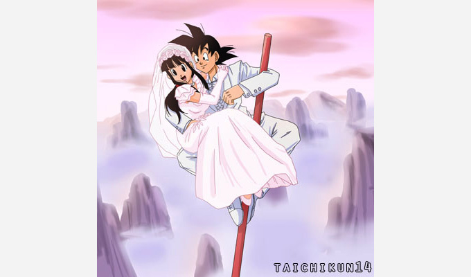 goku chi-chi mount paozu dbz love power pole