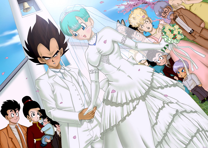 vegeta bulma wedding day dbz love
