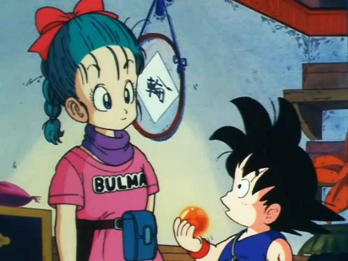 goku and bulma dragon ball runaways 4 star dragonball