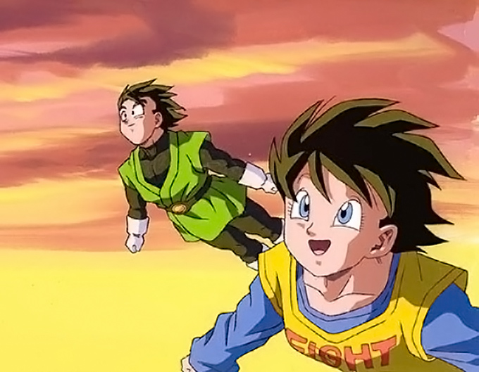 gohan videl take flight in dragon ball z