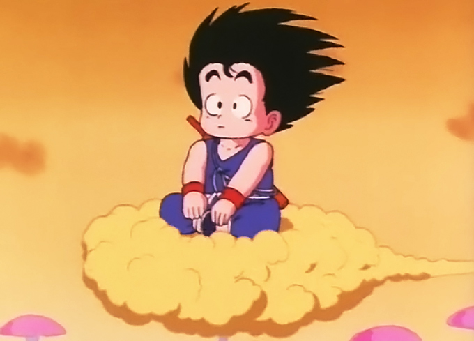 goku flying nimbus dragon ball