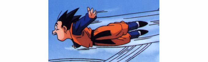 goten flying bukujutsu dragon ball z