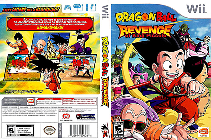 dragon ball revenge of king piccolo wii cover