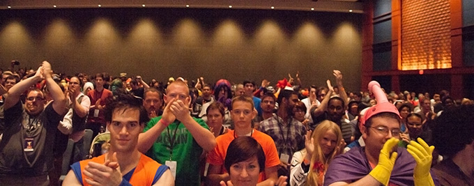 dbz crowd animazement standing ovation