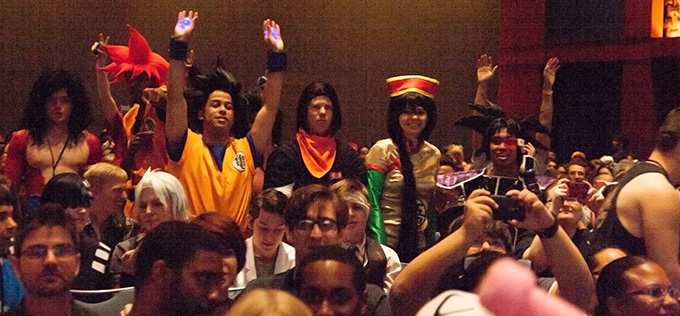 dragon ball z crowd animazement