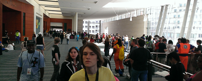 dragon ball z voice actor signing line at animazement