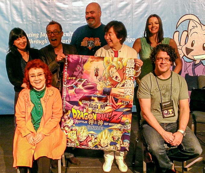 dragon ball z battle of gods cast with signed poster