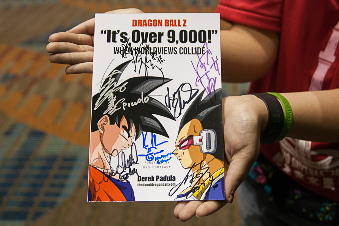 dragon ball z it's over 9,000! signed by dbz voice actors