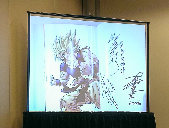 dragon ball manga signed by voice actors charity auction