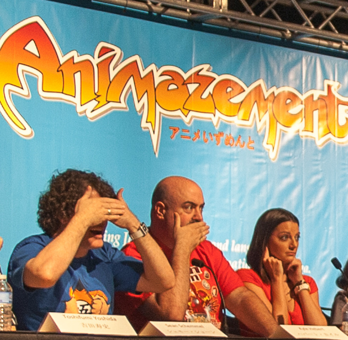 dragon ball z animazement closing ceremonies sean schemmel kyle hebert kara edwards