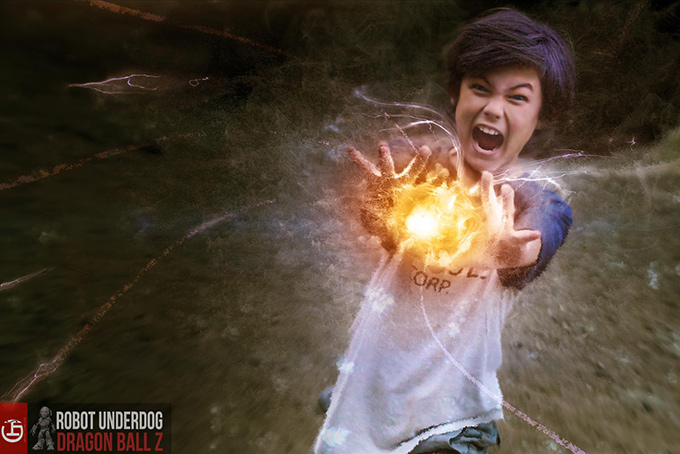 trunks burning attack dragon ball z live action