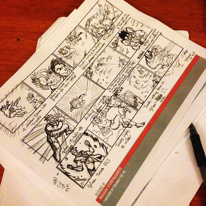 dragon ball z light of hope storyboard fight scene taylor sterling