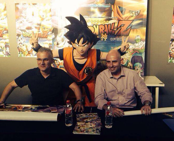 dragon ball z battle of gods movie premiere spain goku vegeta voice actors