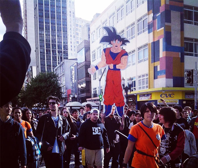 march for goku dragon ball z
