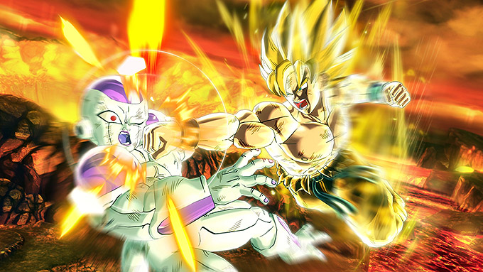 super saiyan goku versus freeza dragon ball xenoverse