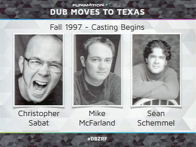 chris sabat mike mcfarland sean schemmel dbz voice actors