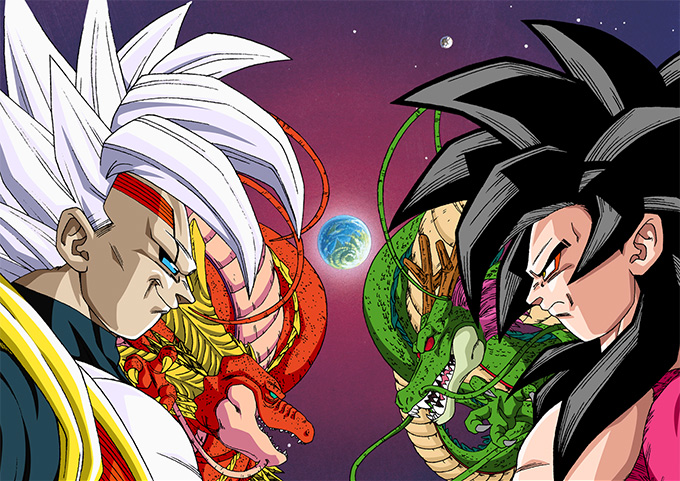 dragon ball gt baby super saiyan 4 goku shenron