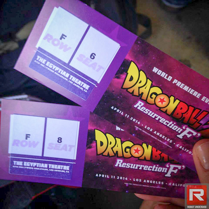 dragon ball z resurrection f world premiere movie tickets