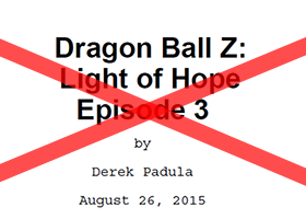 dragon ball z light of hope