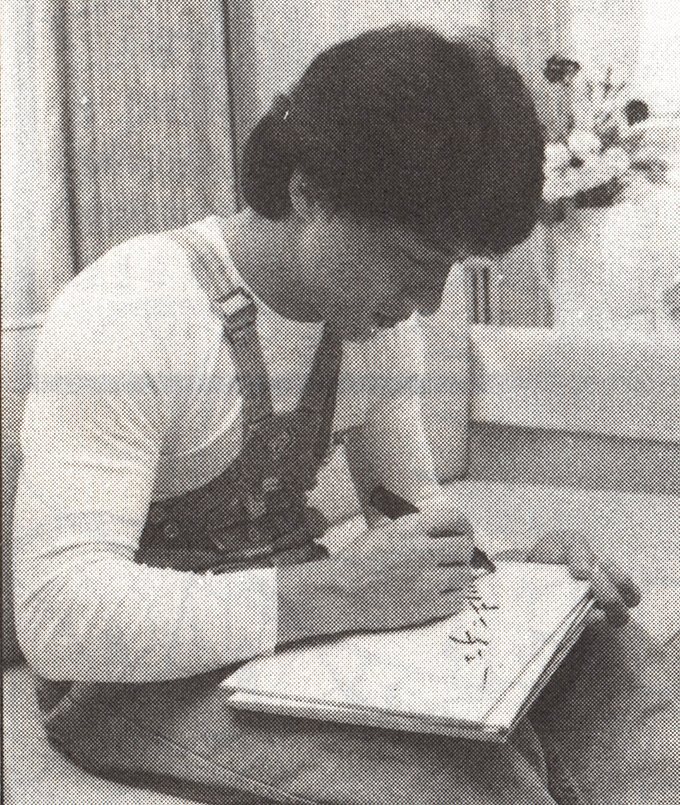 jackie chan signs his name in japanese for akira toriyama