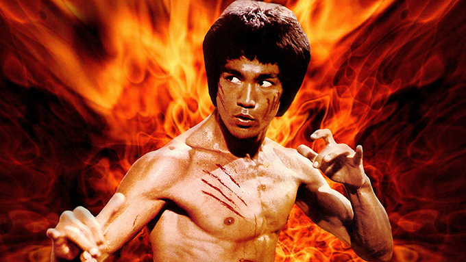 bruce lee enter the dragon flames