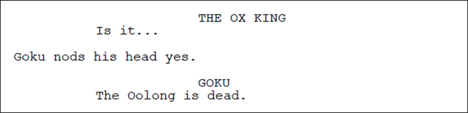 dragonball evolution original script oolong dead