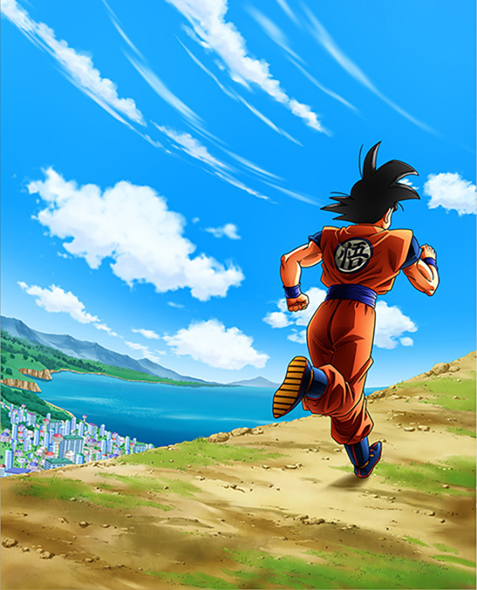 dragon ball run goku