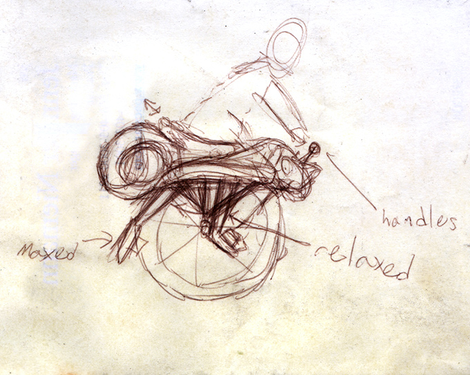 ryno motorcycle prototype sketch