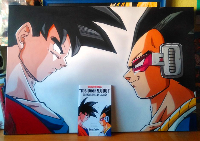 dragon ball z it's over 9,000 painting