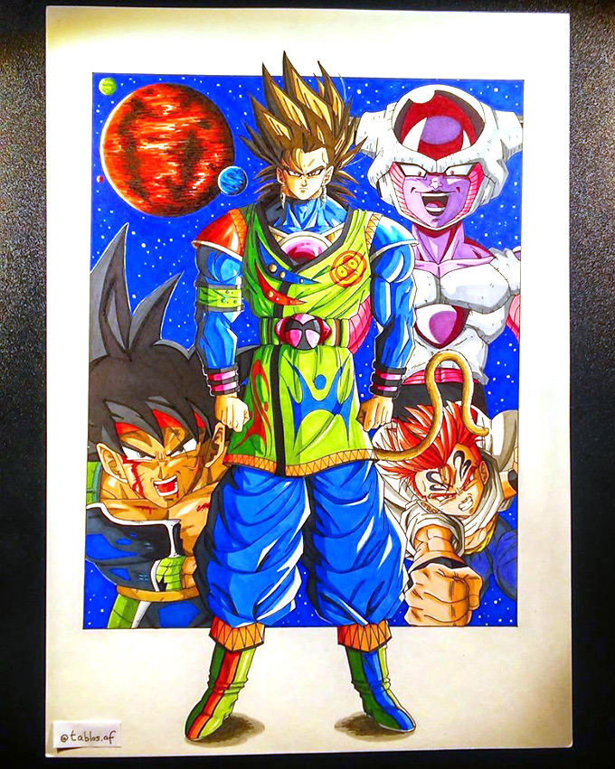 dragon ball af key art david montiel