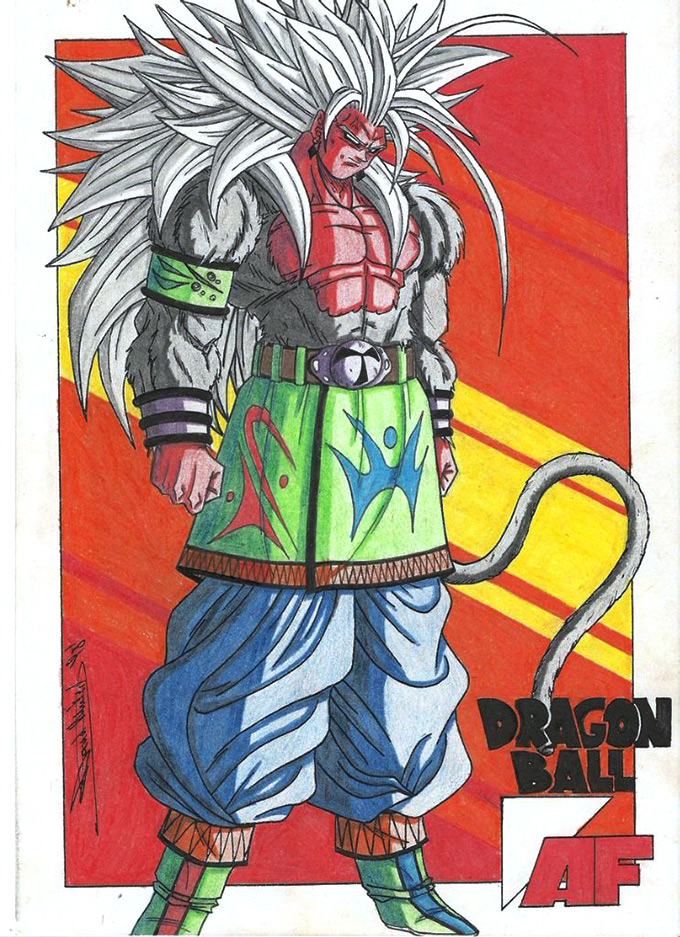 dragon ball af original art tablos