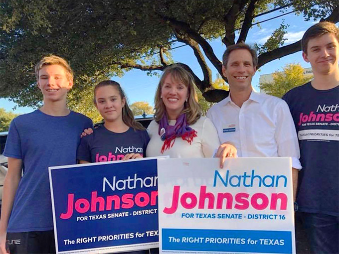 senator nathan johnson family