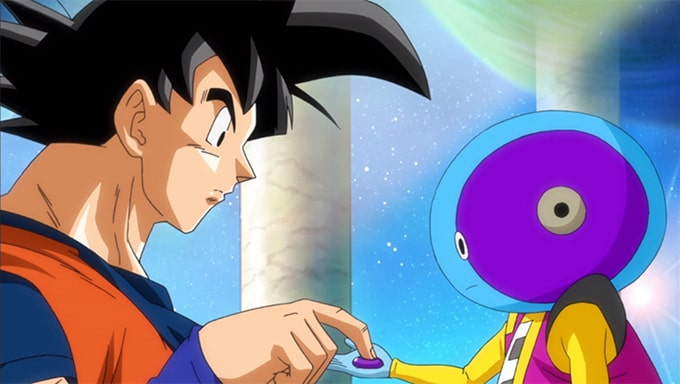 goku presses zeno button dragon ball super