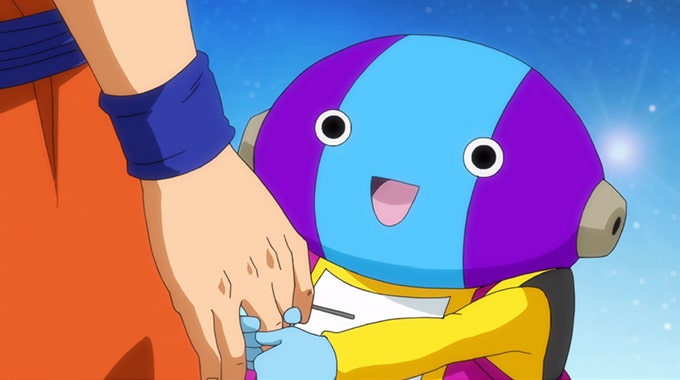 zeno sama goku hand hold dragon ball super