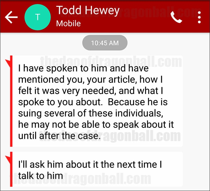 vic mignogna todd hewey derek padula text messages