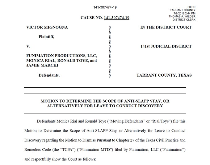 vic mignogna sexual assault allegations file to dismiss title page