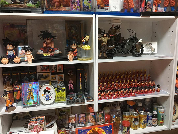 dragon ball collection hitoshi uchida goku room shelf