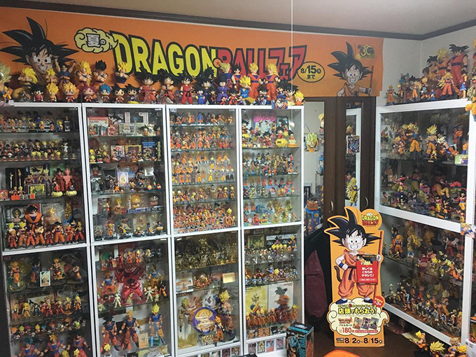 dragon ball collection hitoshi uchida goku room shelving