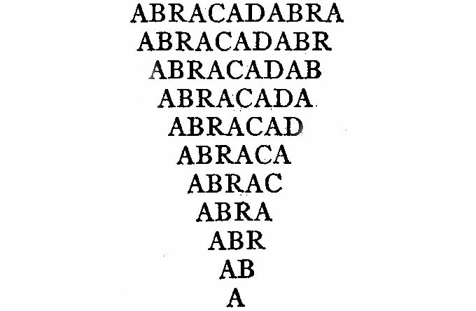 magic word abracadabra