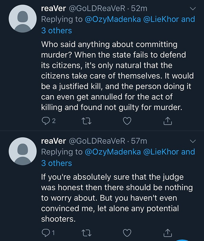 death threat against judge chupp twitter