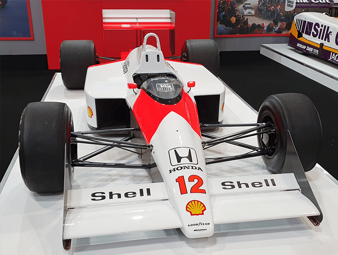 ayrton senna f1 car 1988 autosport international