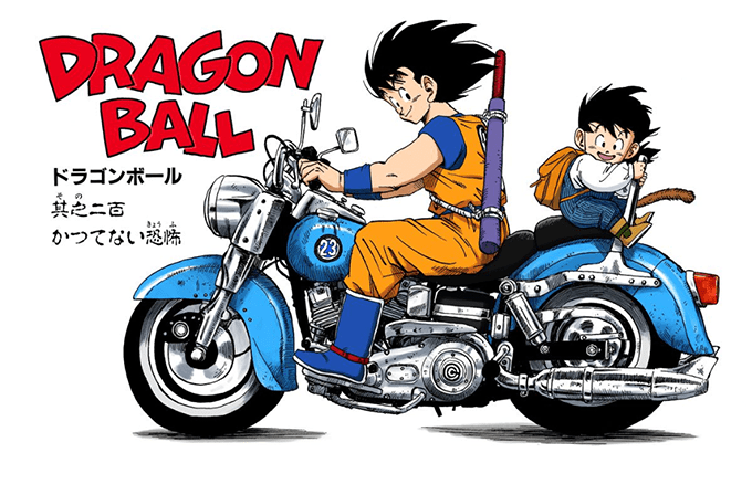 goku motorcycle dragon ball z kid gohan