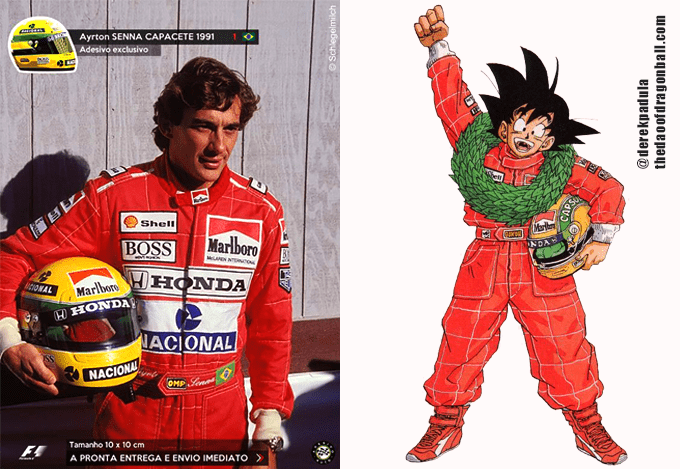 son goku ayrton senna racing uniform