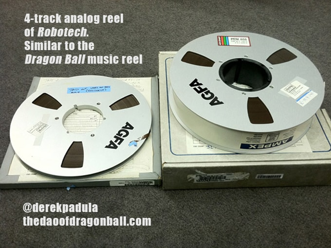 dragon ball harmony gold dub 4-track analog reel of robotech