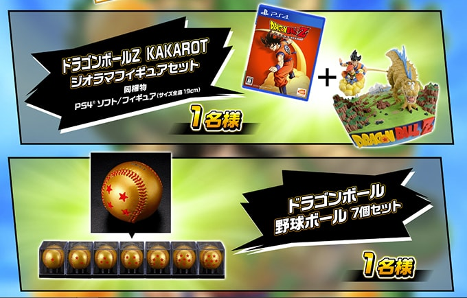 goku day costume prizes 7-star baseballs