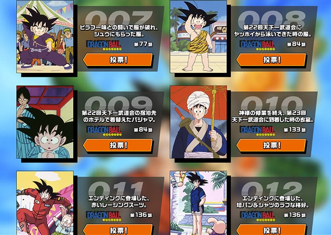 goku day costume contest 7 to 12