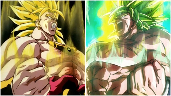 old broly vs new broly