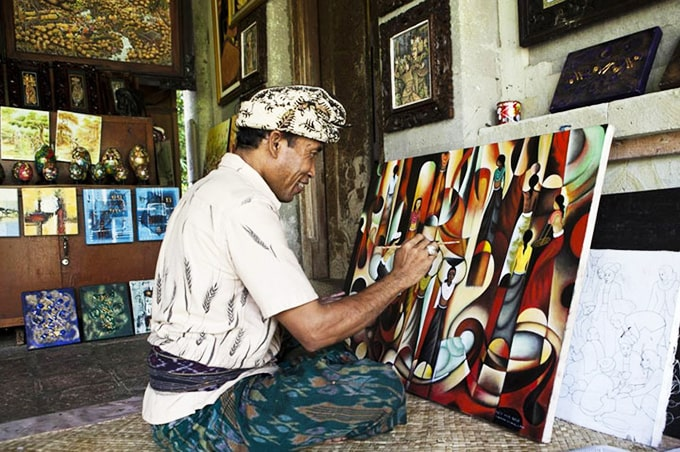 balinese painter batuan village